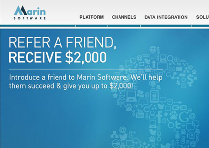 marin software referral program example